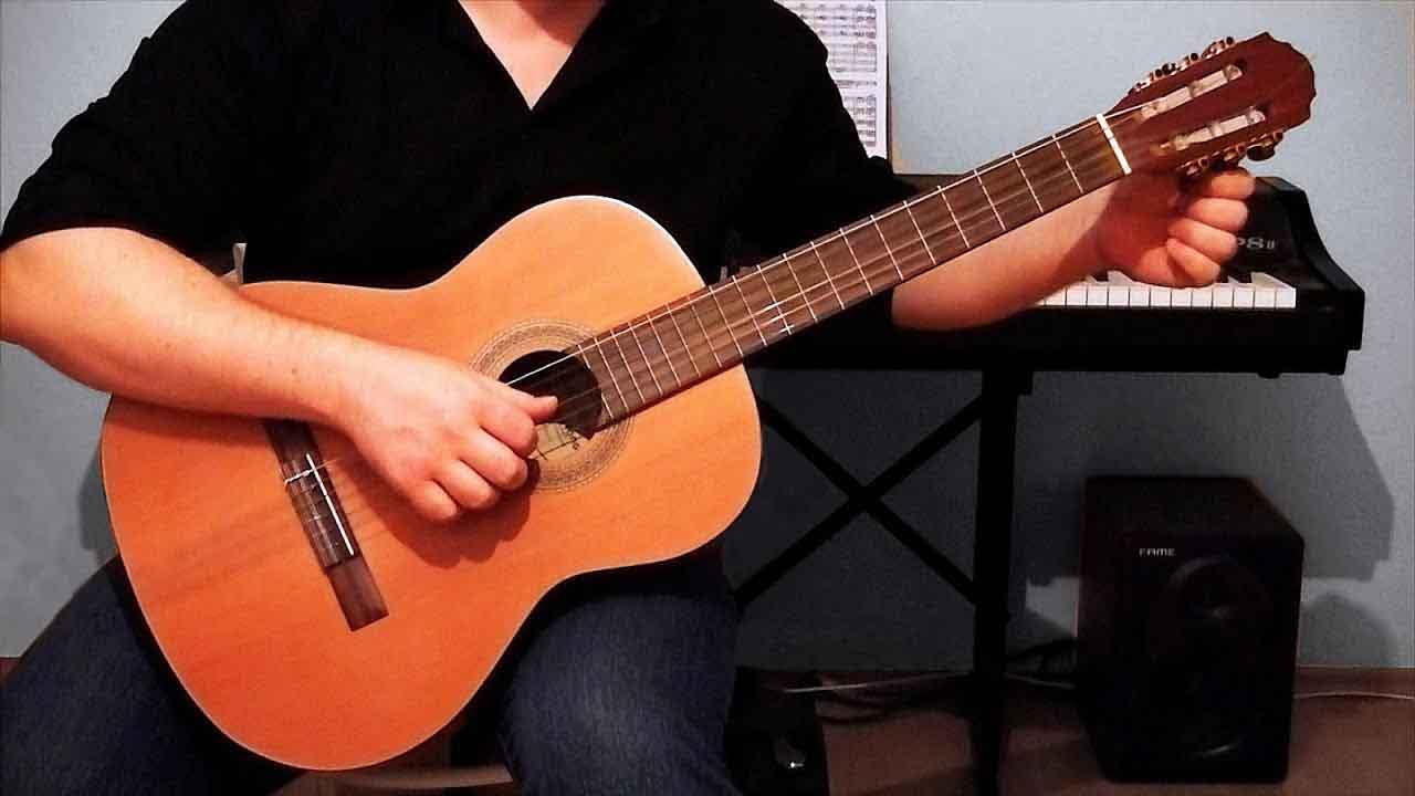 Как настроить гитару по фортепиано